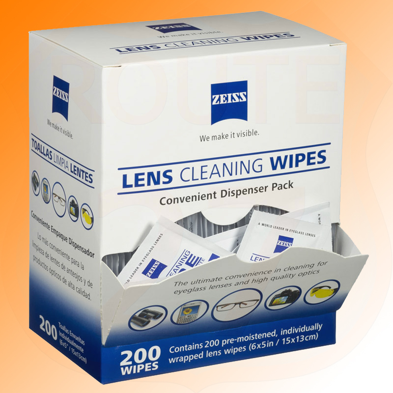 Zeiss Lens Wipes 200 pieces spectacles lenses camera screen