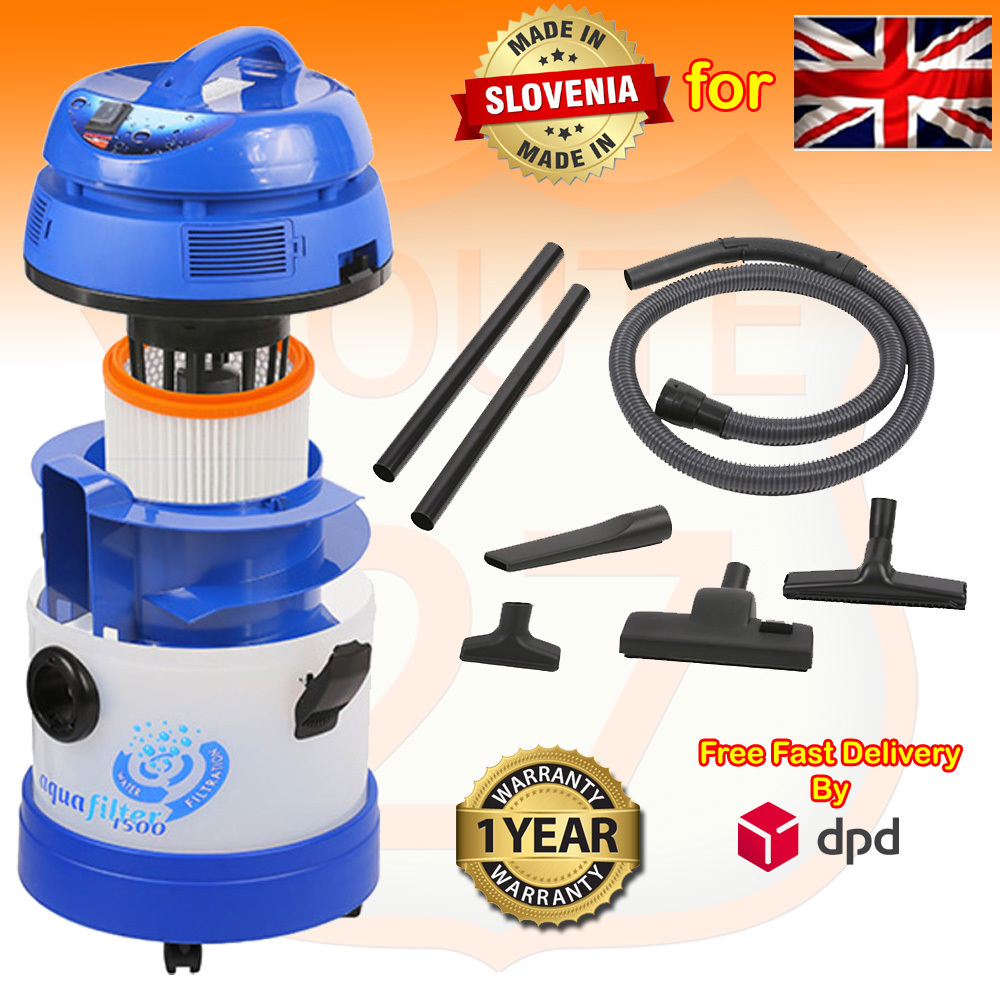 AQUAFILTER 1500 Bagless Water Filtration Hepa Filter Pet Wet Dry Vacuum Cleaner