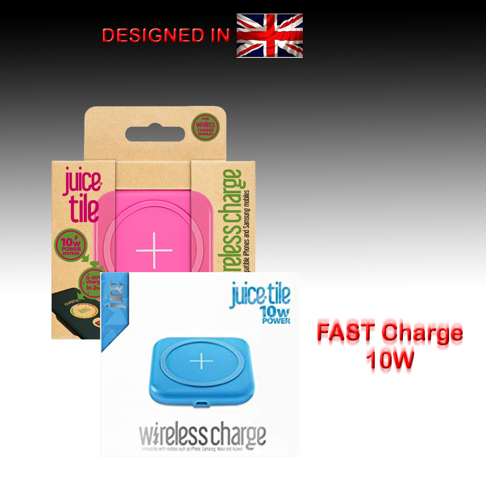 Fast Qi Wireless Charger Tile Pad For Samsung Apple iPhone 11 X S8 S9 S10