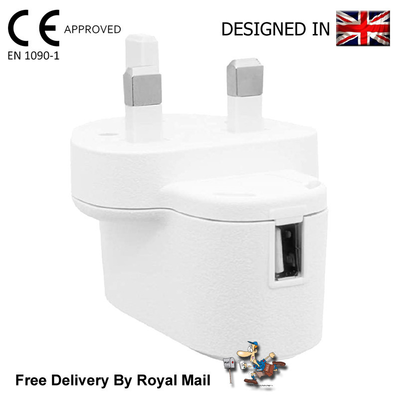 Juice USB Charger 3 Pin UK Mains Wall Plug Adapter 5V 1A For Phones Tablets