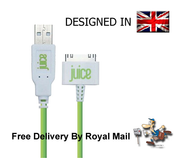Juice USB Charging Cable Charger For Apple iPhone 4 4S 5 5S 3GS iPod iPad 2 & 1